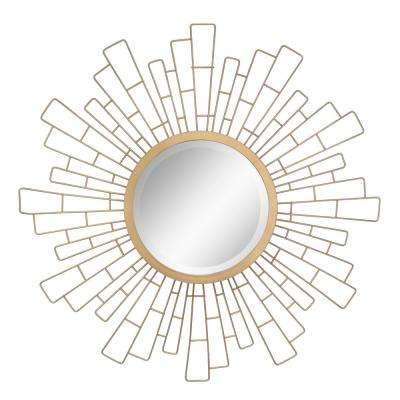 Geometric Sunburst Gold Decorative Wall Mirror