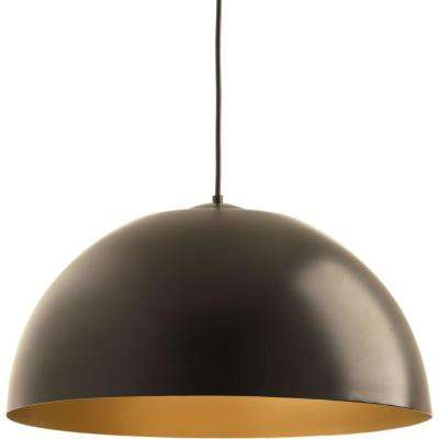 Dome Collection 29-Watt Antique Bronze Integrated LED Pendant