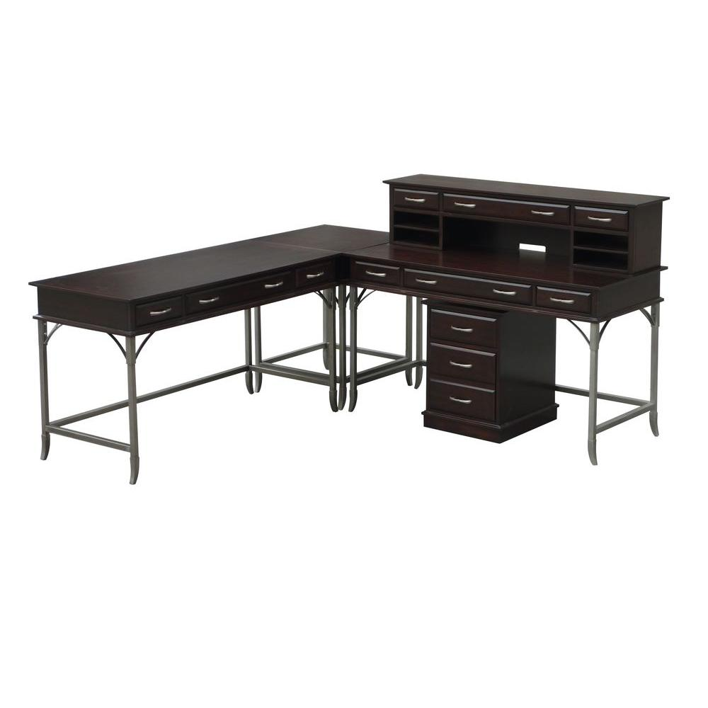 Home Styles Bordeaux Corner L-Desk and Mobile File-DISCONTINUED