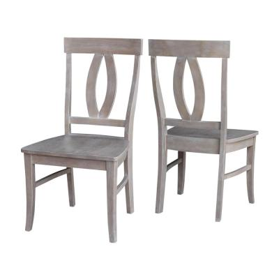 Verona Weathered Taupe Gray Wood Dining Chair (Set of 2)