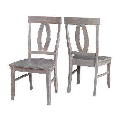 Verona Weathered Gray Wood Dining Chair (Set of 2)