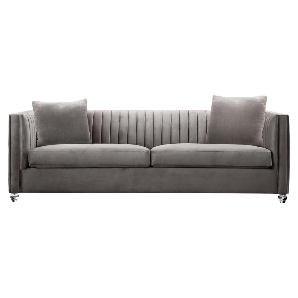 Armen Living Cameron Beige Fabric Sofa