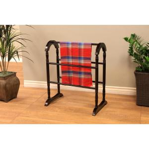 MegaHome Contemporary Wooden Coat Rack/Quilt Rack in Espresso ...