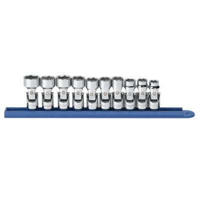 3/8 in. Drive 6-Point Flex Socket Set (10-Piece)