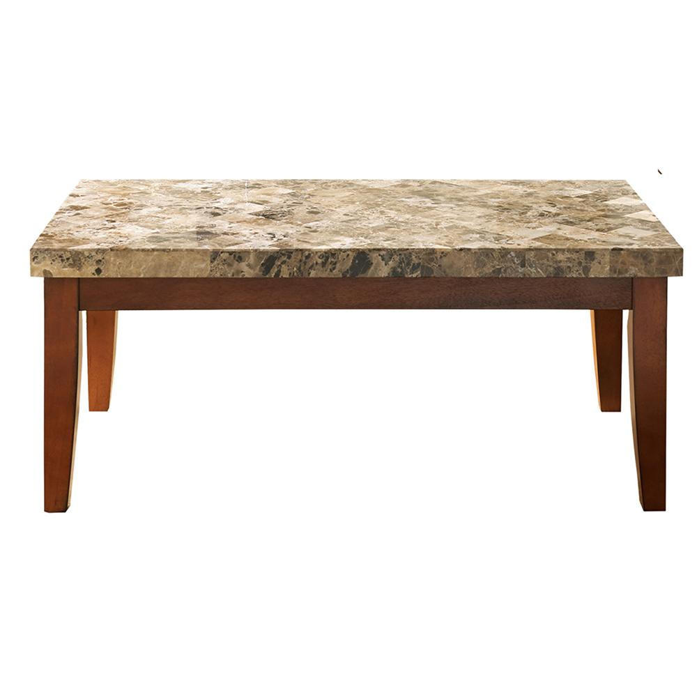 Buy Online Marble Top Coffee Table: Montibello Spanish Brown Marble Cocktail Table-MN700C