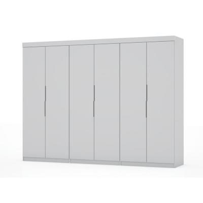 Ramsey 2.0 White Wardrobe Closet (Set of 3)