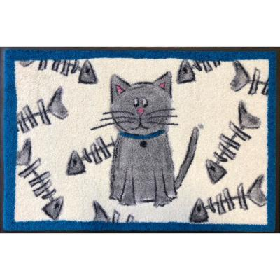 Whimsy Cat-Fish 20 in. x 30 in. Nylon Doormat