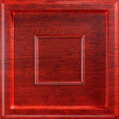 Inset Coffer 2 ft. x 2 ft. Lay-in Ceiling Tile in Cherry