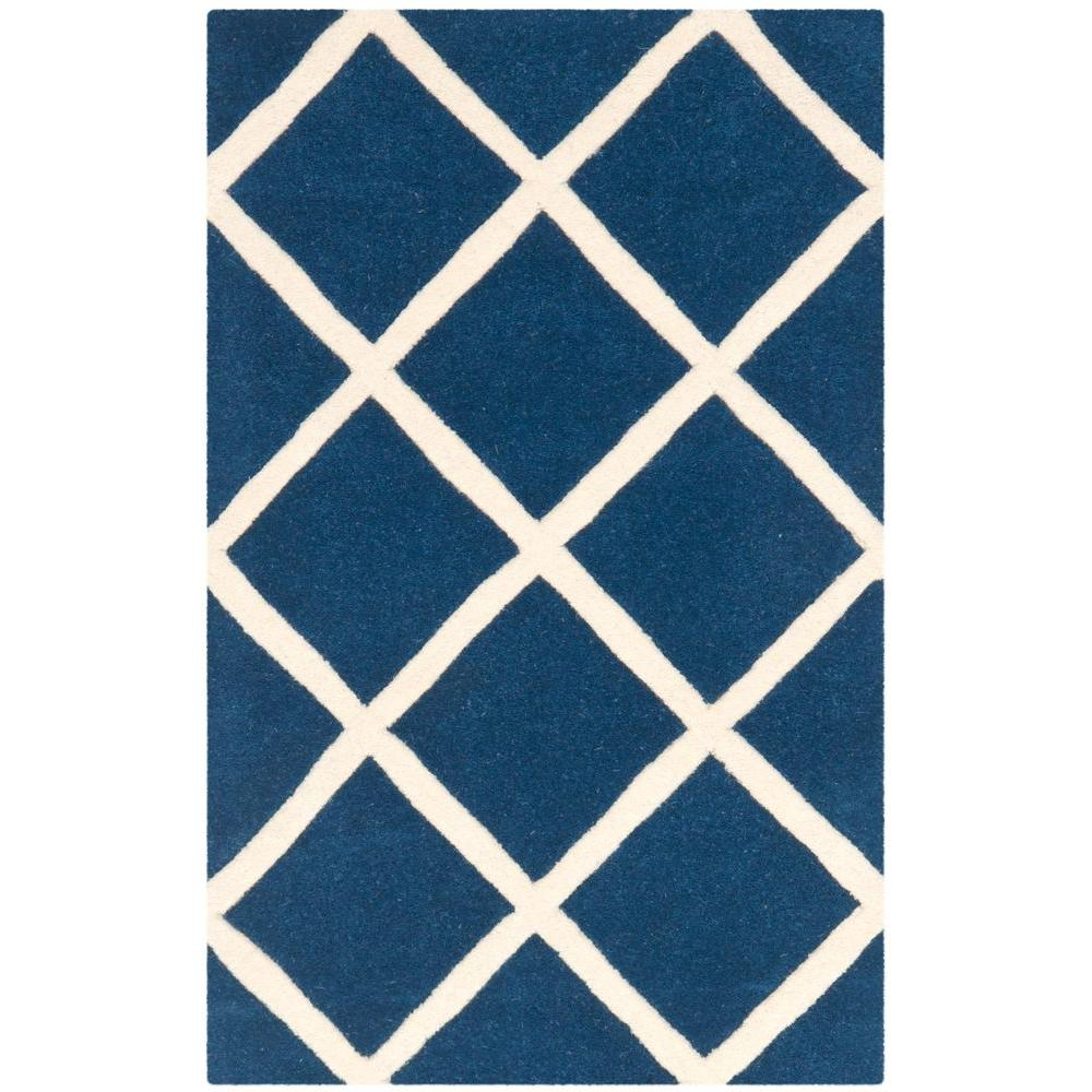 Chatham Dark Blue/Ivory 3 ft. x 5 ft. Area Rug