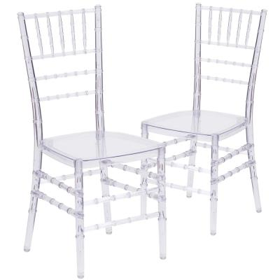 Crystal Ice Crystal Chiavari Chairs (Set of 2)