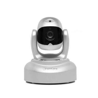 1080p Smart Wi-Fi Home Video Monitor with Pet Laser, Silver