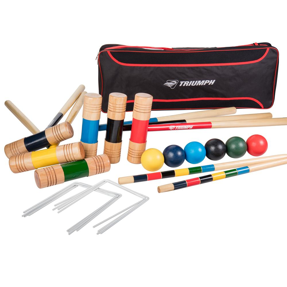 Triumph All Pro 6 Player Croquet Set