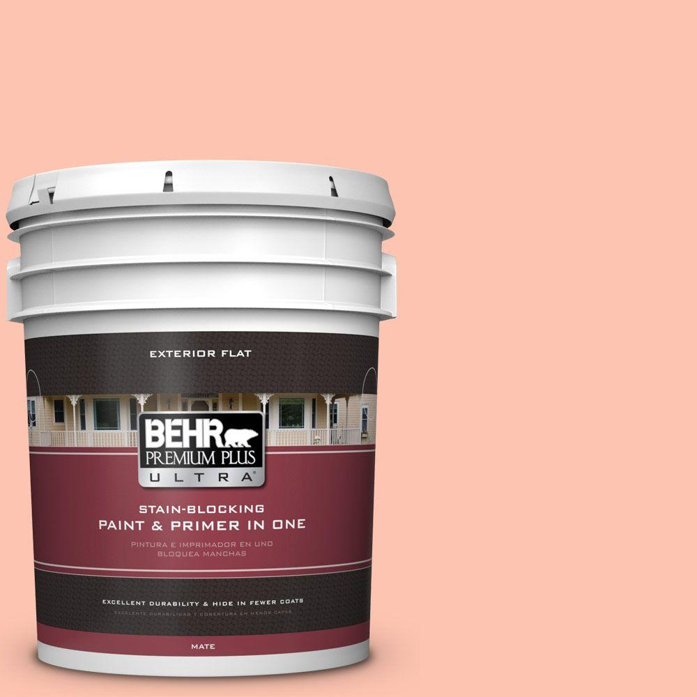 BEHR Premium Plus Ultra 5-gal. #210A-3 Malibu Peach Flat Exterior Paint