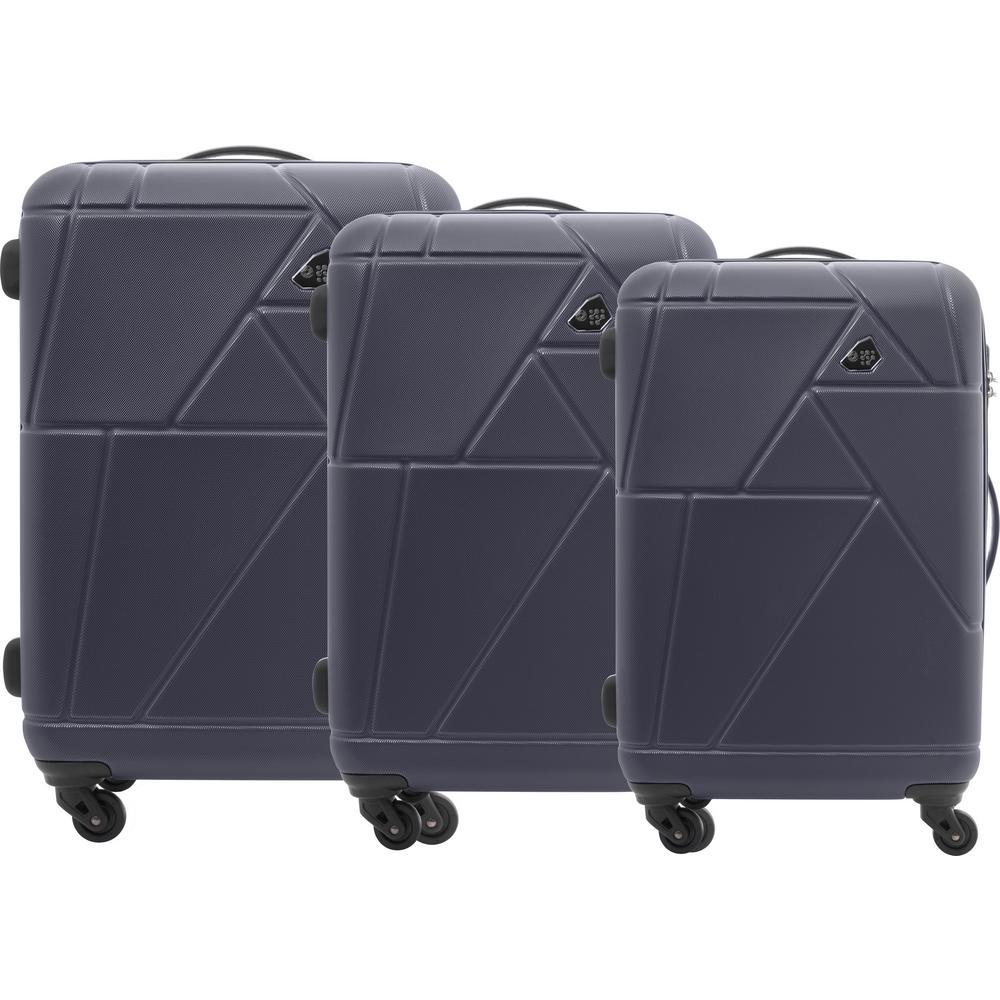 79662698a Kamiliant Verona Black 3-Piece Spinner Luggage Set 105008-1041 - The ...
