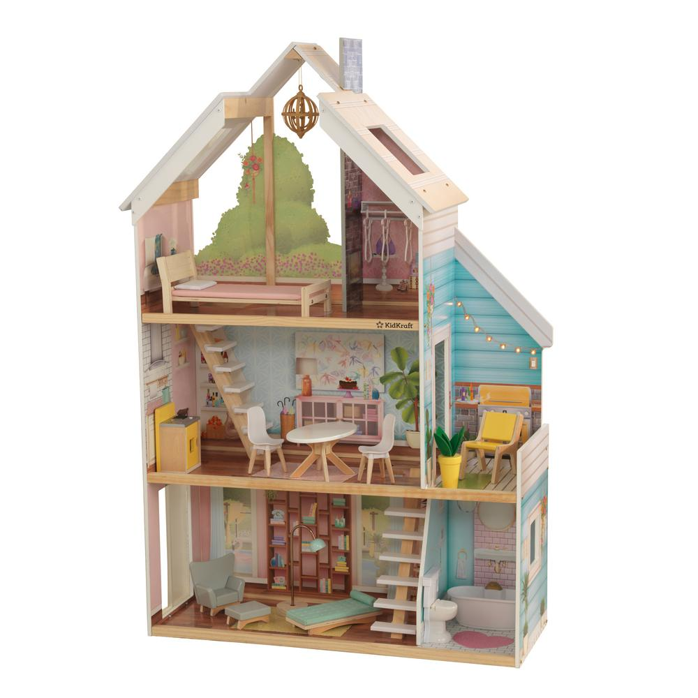 KidKraft Zoey Dollhouse With Ez Kraft Assembly-65960