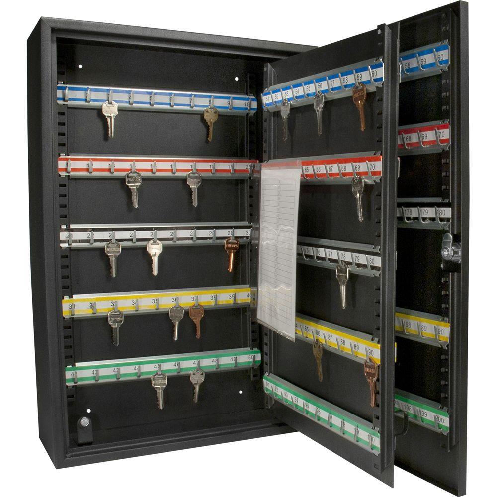 BARSKA Deluxe 200 Keys Heavy Duty Lock Box Safe with Key Lock ...