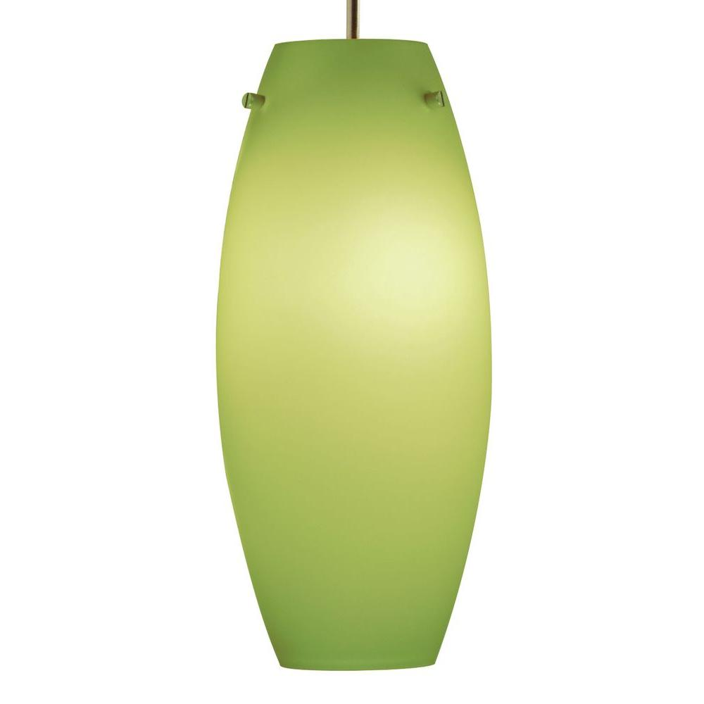 Juno 1-Light Pistachio Ellipse Glass Pendant Kit