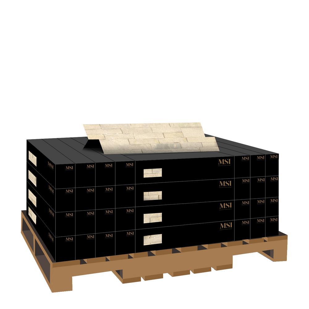 Salvador Beige Ledger Panel 6 in. x 24 in. Natural Sandstone Wall Tile (10 cases / 80 sq. ft. / pallet)