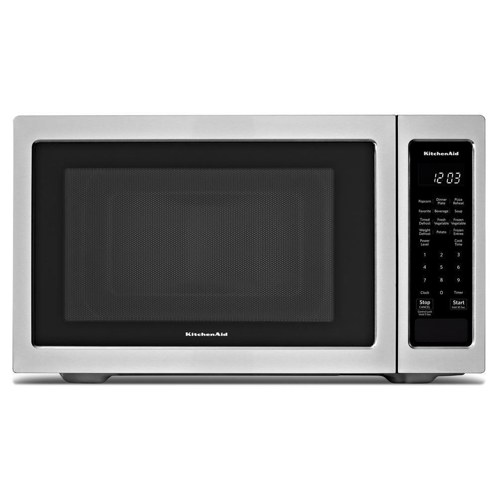 Kitchenaid 1 6 Cu Ft Countertop Microwave In Stainless Steel