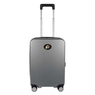NFL Washington Redskins Premium Silver 22 in. 100% PC Hardside Carry-On Spinner w/ Charging Port Suitcase