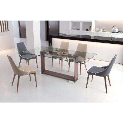 Moor Dark Gray Leatherette Dining Chair (Set of 2)