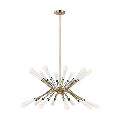 ED Ellen DeGeneres Crafted by Generation Lighting Piro 20-Light Burnished Brass Large Chandelier