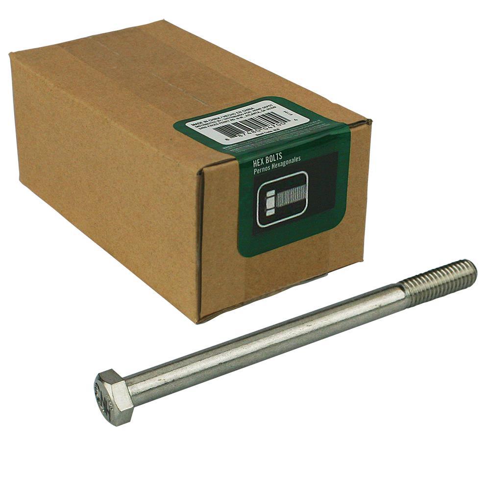 External Hex Drive Full Thread 1//2-13 x 2 Hex Head Cap Screw Bolts 304 5 PCS Stainless Steel 18-8