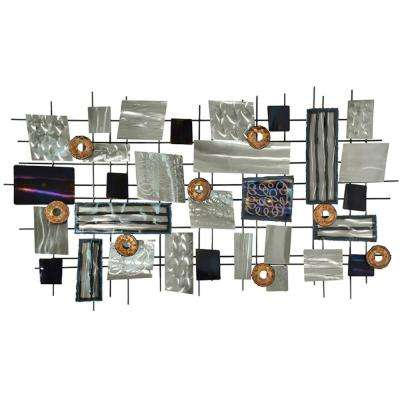 "28 in. H x 48 in. W ""Silver Point"" by Olivia Salazar Unframed Metal Wall Art"