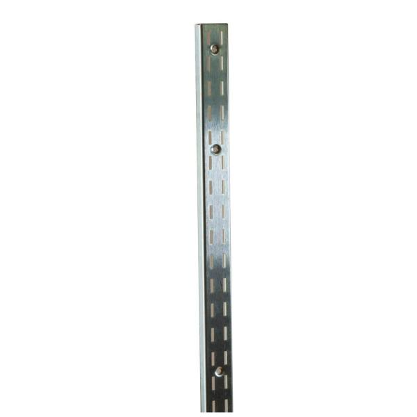 96 in. L Chrome President Line Surface Mount Double Slotted Wall Standard (10-Pack)