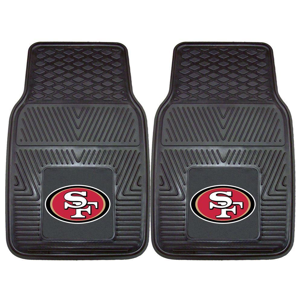 FANMATS San Francisco 49ers 18 in. x 27 in. 2-Piece Heavy Duty Vinyl Car Mat