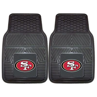 San Francisco 49ers 18 in. x 27 in. 2-Piece Heavy Duty Vinyl Car Mat