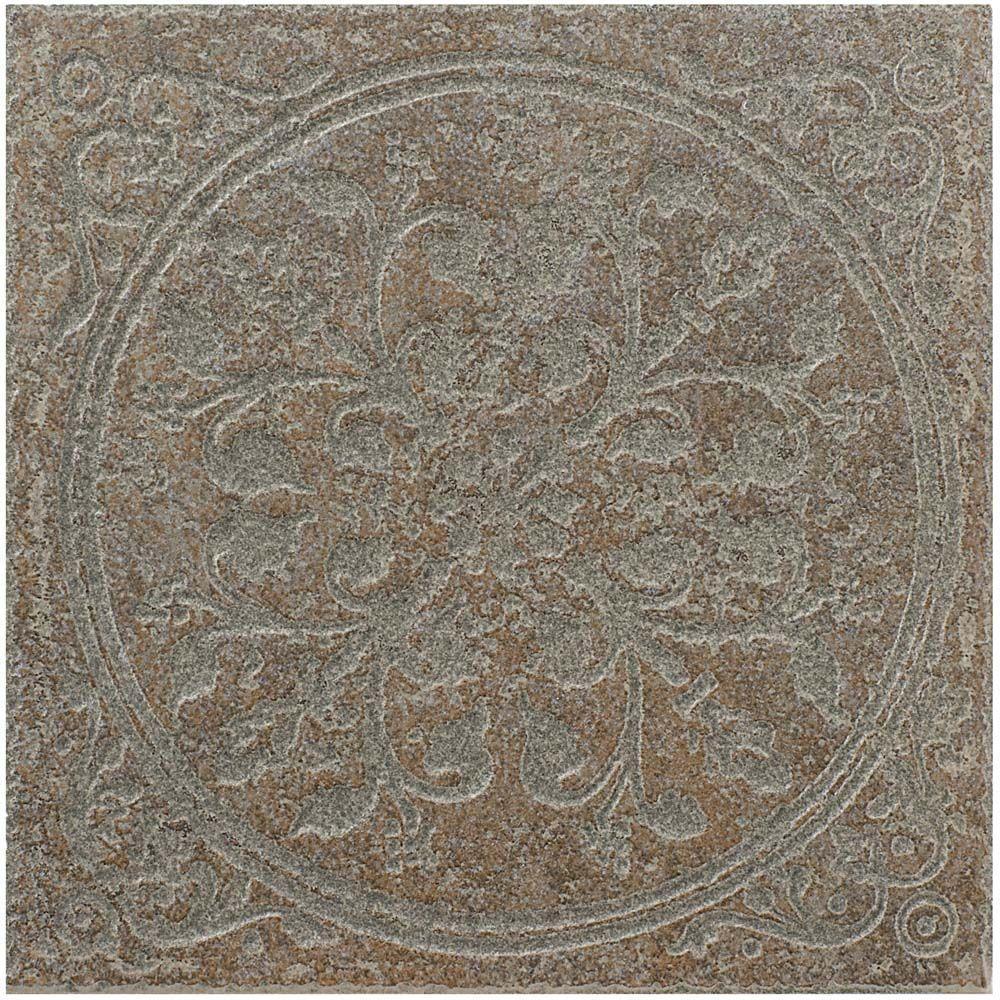MARAZZI Ridgeway Russet 6-1/2 in. x 6-1/2 in. Porcelain Decorative Floor and Wall Tile (3.52 sq. ft. / case)