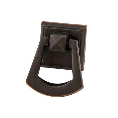 Symmetry 1-1/2 in. Square Oil Rubbed Bronze Ring Pull