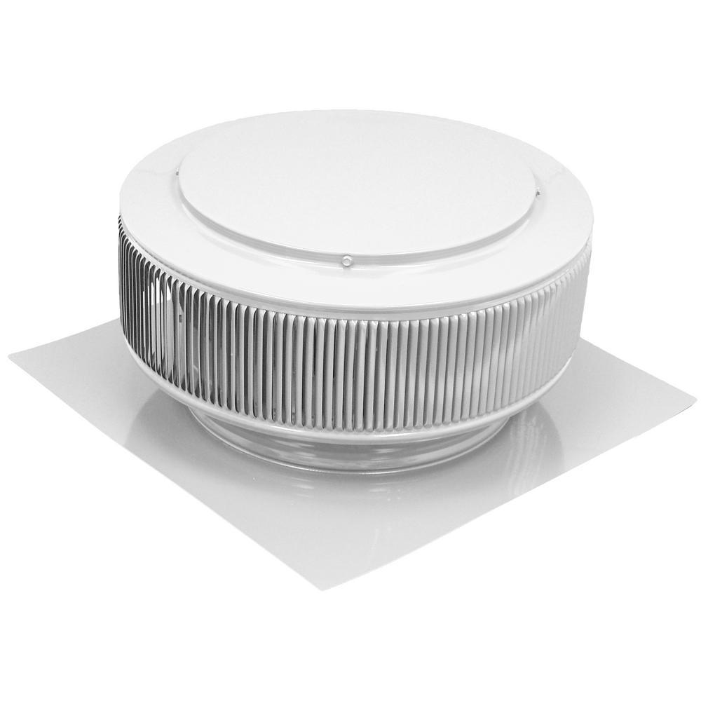 Active Ventilation 12 In White Powder Coated Aluminum