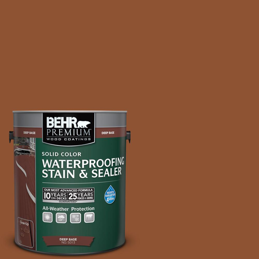 BEHR Premium 1 gal. #SC-122 Redwood Naturaltone Solid Color Waterproofing Stain and Sealer