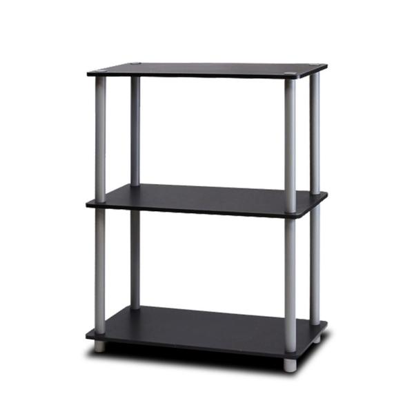 Furinno Turn-N-Tube Black Compact Open Bookcase