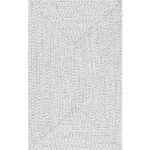 Lefebvre Casual Braided Ivory 4 ft. x 6 ft. Indoor/Outdoor Area Rug