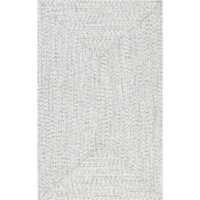 Lefebvre Casual Braided Ivory 8 ft. Indoor/Outdoor Square Rug
