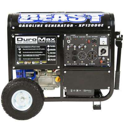 12000-Watt 18 HP Gasoline Powered Portable Electric Start Generator with Wheel Kit CARB Approved