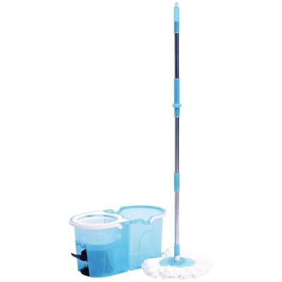 Mop Head Quality Cotton Fibers Machine Washable Kit Replacement Mop Head TIVIT Cotton String Mop and Mop Bucket with Wringer Combo Light Stackable Wringer 15 L Bucket Set
