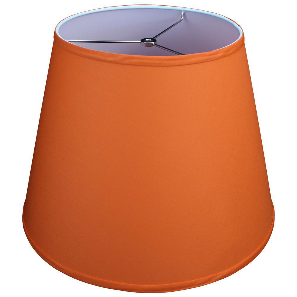 11 in. Top Diameter x 17 in. Bottom Diameter x 13 in. Slant Linen Carrot Empire Lamp Shade