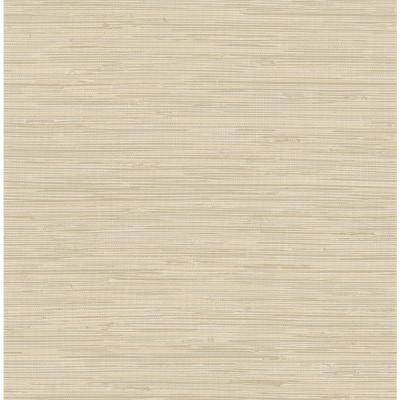 Tibetan Grasscloth Cream Neutrals Vinyl Strippable Roll (Covers 30.75 sq. ft.)