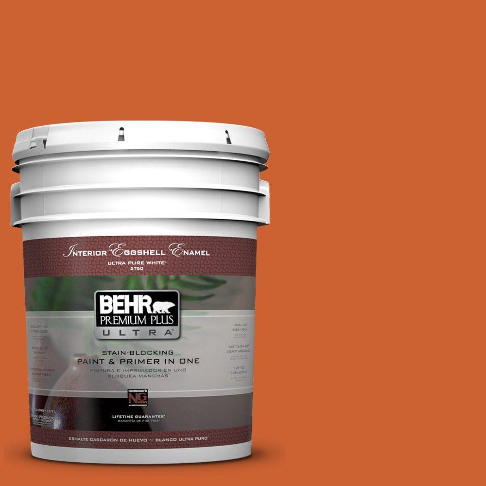 BEHR Premium Plus Ultra 5-gal. #S-H-250 Pumpkin Patch Eggshell Enamel Interior Paint