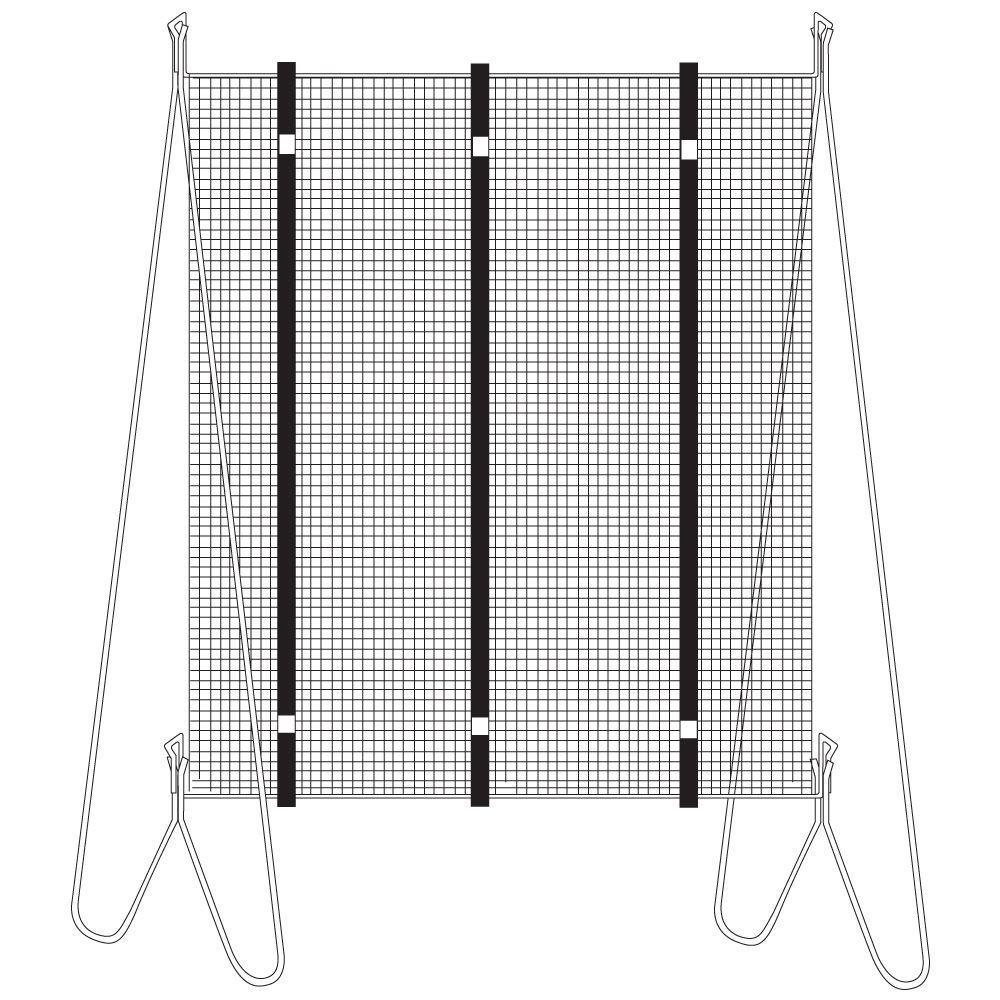 Vertical Grow Frame Net Raised Garden Bed Accessory Black