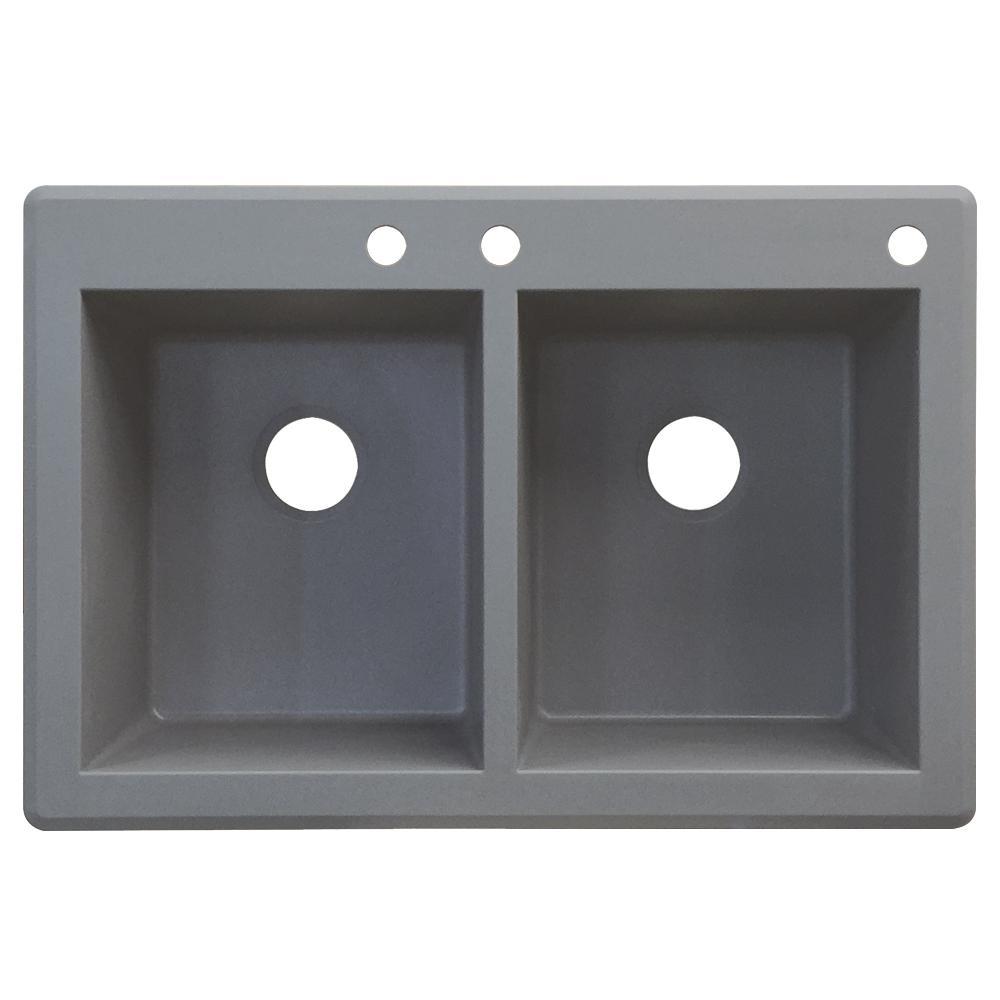 Grey Acrylic Dropin Kitchen Sink