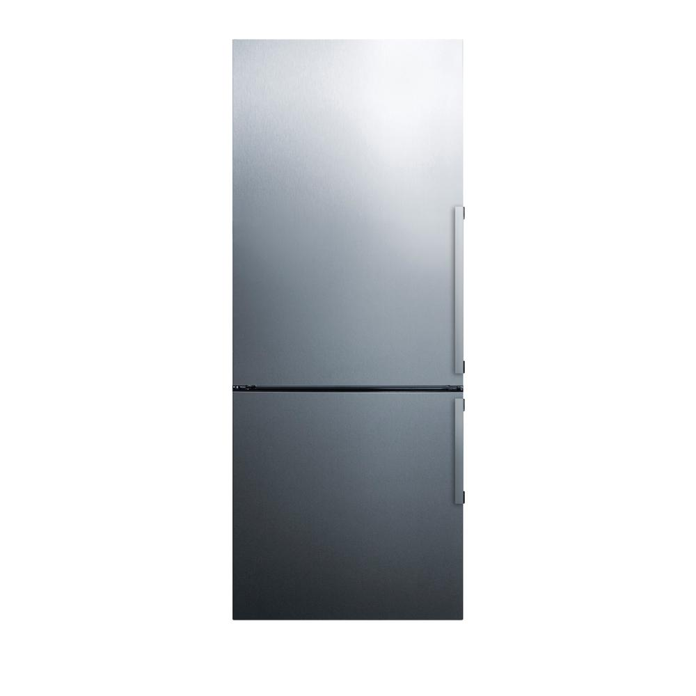 Summit Appliance 27 in. 16.8 cu. ft. Bottom Freezer Refrigerator in ...