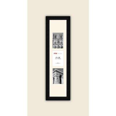 3-Opening Vertical 5 in. x 7 in. White Matted Black Photo Collage Frame