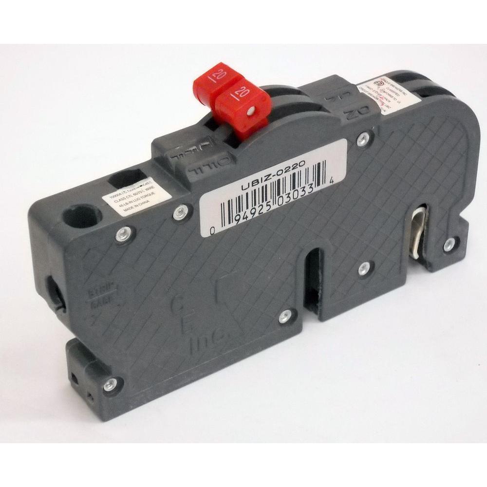 New VPKUBIZ Thin 20 Amp 3/4 in. 2-Pole Zinsco RC3820 Replacement Circuit Breaker