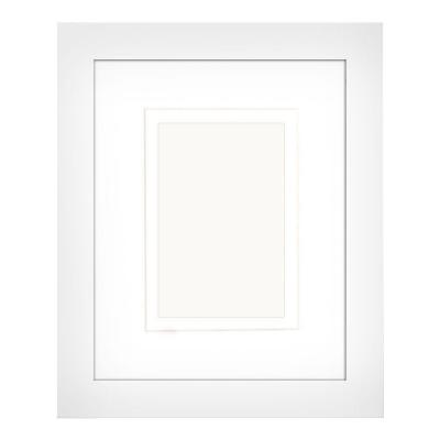 1-Opening 4 in. x 6 in. or 5 in. x 7 in. Matted White Picture Frame (Set of 2)