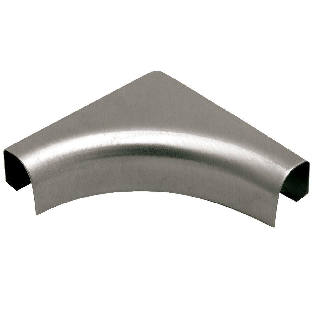 Rondec Stainless Steel 3/8 in. x 2 in. Metal 1-1/2 in. Radius Sink Corner